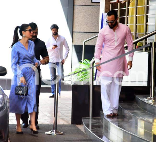 Kareena and Saif accompanied him