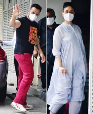 Pregnant Kareena Kapoor Khan Visits Her Doctor With Hubby Saif After Returning From Palampur - See Pics