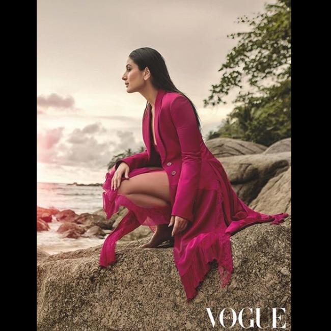Kareena Kapoor Khan in trench coat for Vogue 2018 shoot
