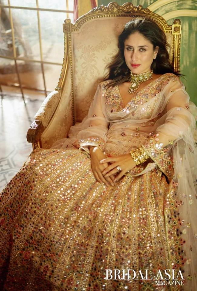 Kareena Kapoor Khan Looks Resplendent in Gorgeous Lehenga Looks For Magazine Photoshoot