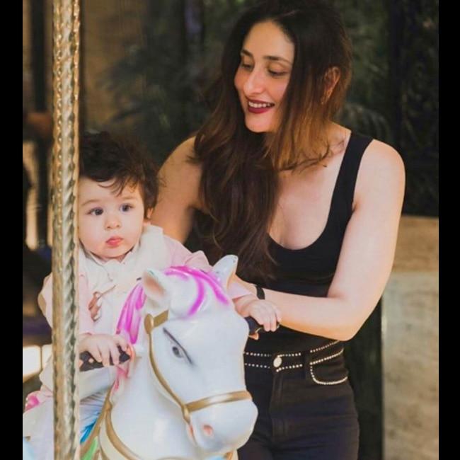 Kareena Kapoor Khan playing with son Taimur Ali Khan Pataudi