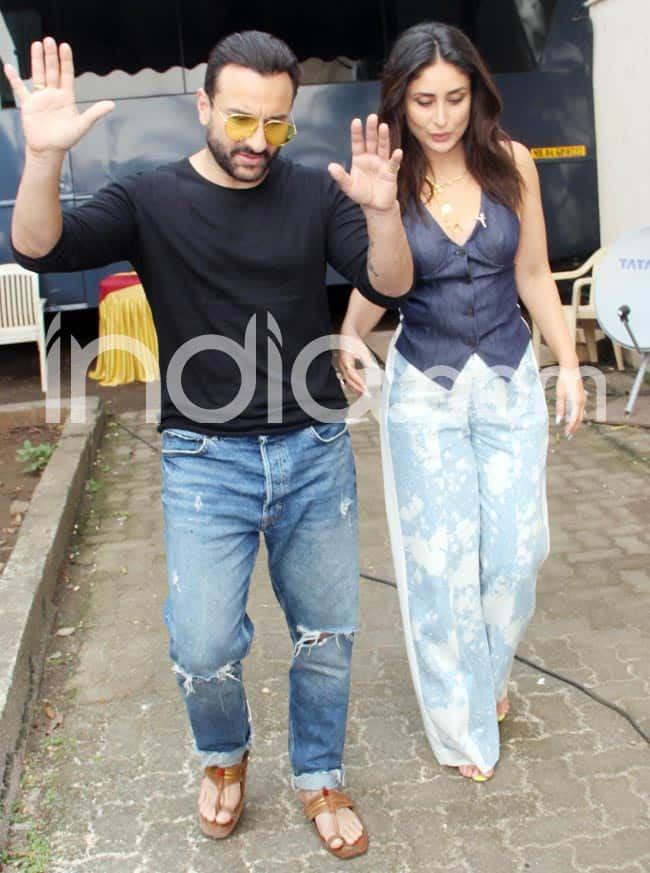 Kareena Kapoor Khan Saif Ali Khan Pose Together on The Sets of    What Women Want