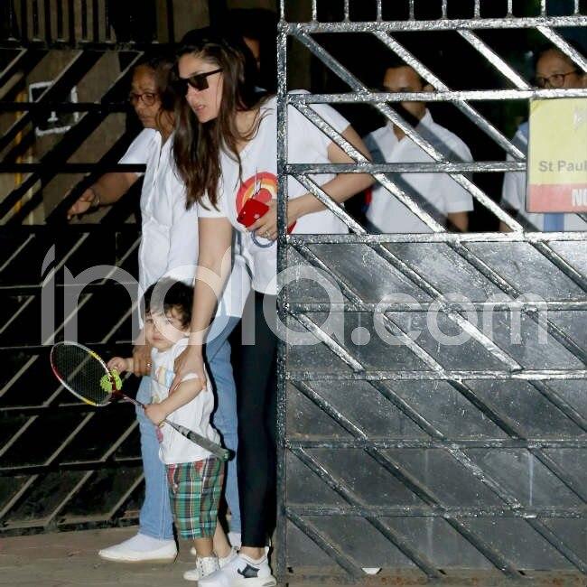 Kareena Kapoor takes baby Taimur to play Badminton