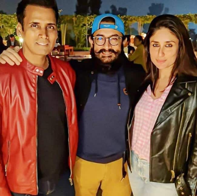 Kareena Posing With Aamir in The Party