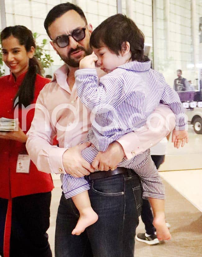 Kareena  Saif  Taimur Heads off to London For Mini Vacation