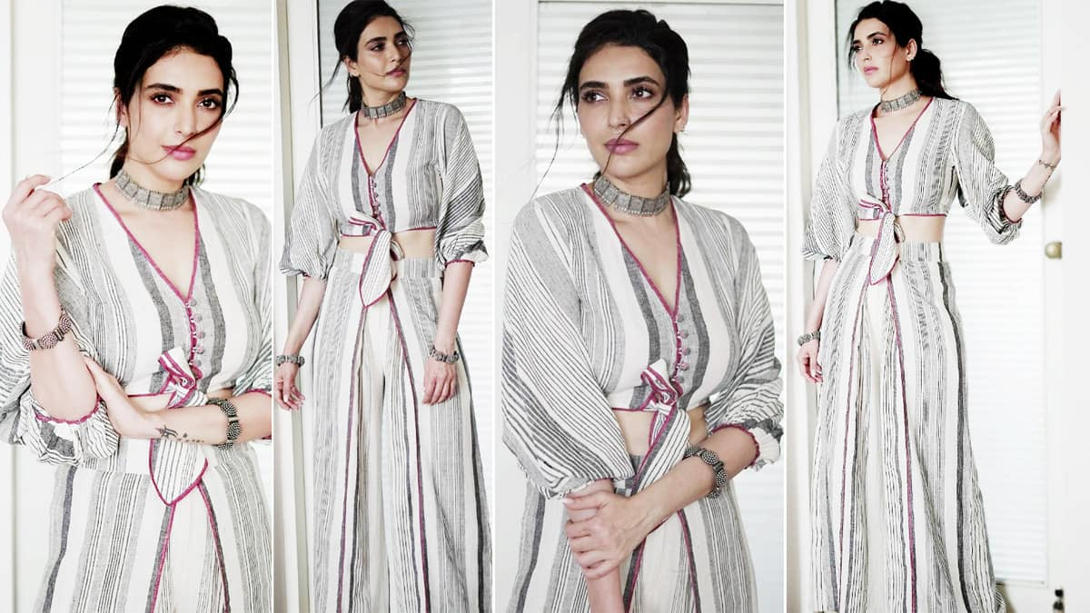 Karishma Tanna goes easy breezy in a handloom separates for new photoshoot