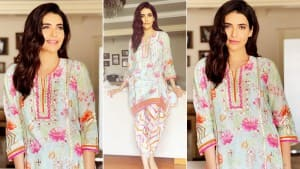 Karishma Tanna Looks Beautiful in her New Floral Kurti for Rakhi Celebration. Check Out Her Pictures Here: