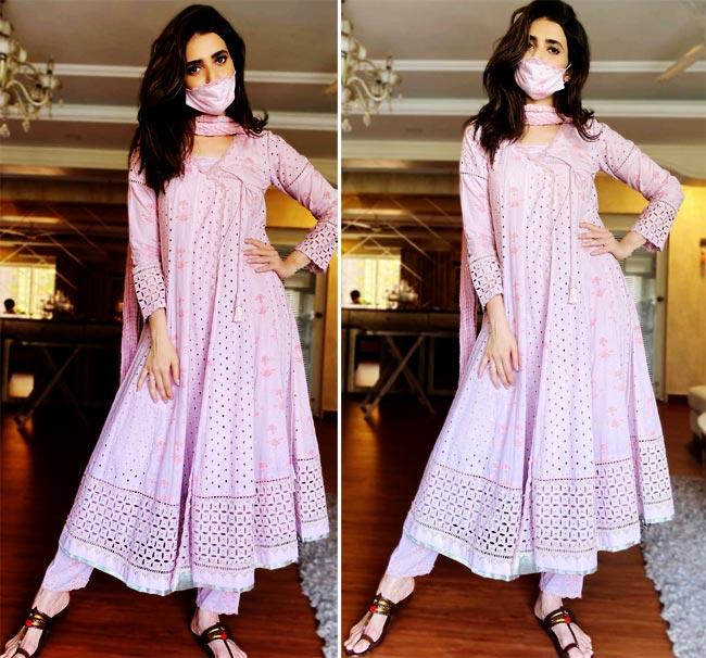 Karishma Tanna looks beautiful in Indian wear