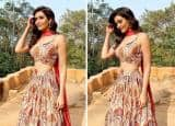 Karishma Tanna Makes Fans' Heart Aflutter in Gorgeous Lehenga Look