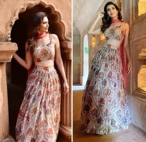 Karishma Tanna Campaigns For Assam Tourism With Her Beauteous Pictures in a Gorgeous Print Lehenga in The North-Eastern State