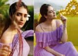 PHOTOS: Karishma Tanna shares bold and beautiful pictures in Lilac Dress