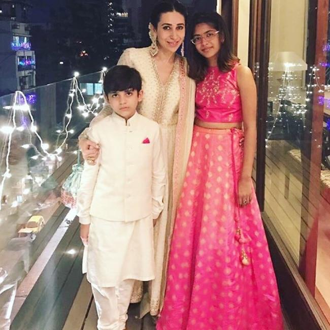 Karisma Kapoor blessed with two kids Samaira and Kiaan Raj Kapoor