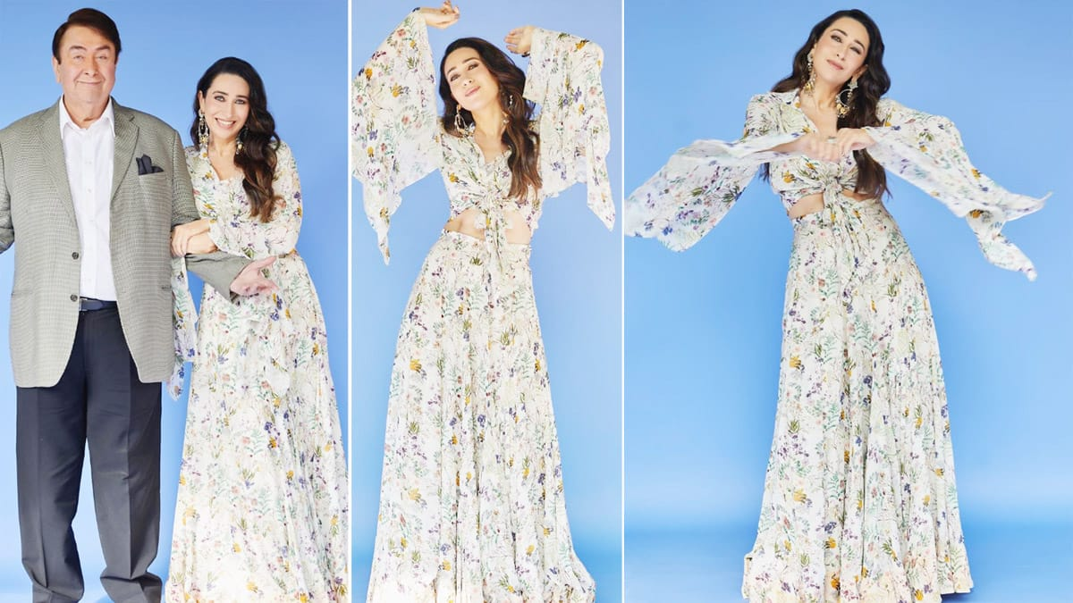 Karisma Kapoor Looks Beyond Beautiful in White Floral Outfit