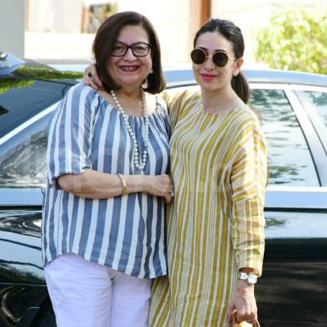 Karisma Kapoor with mom