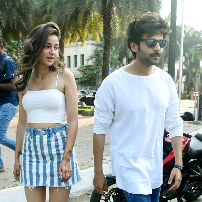 Kartik Aaryan Ananya Pandey go Out on a Date