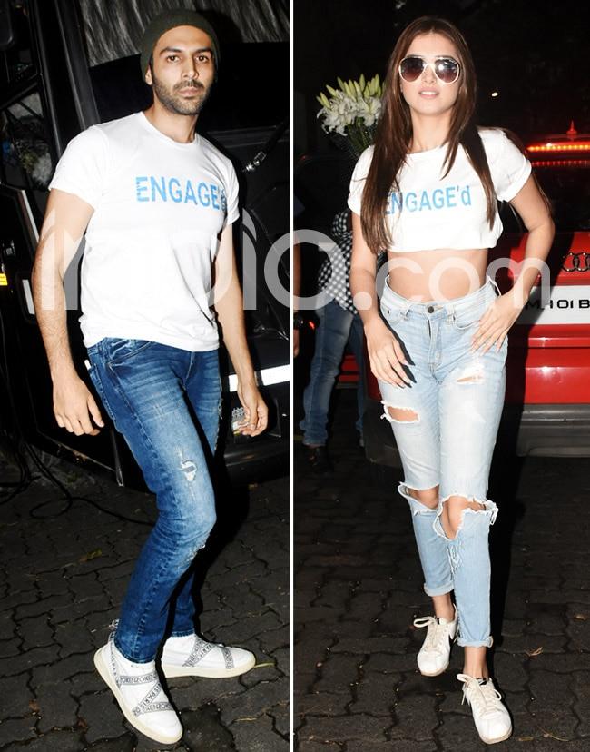 Kartik Aaryan and Tara Sutaria s t shirts