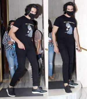 Kartik Aaryan Snapped in Mumbai After Months Sporting Long Hair And Black Casual Wear