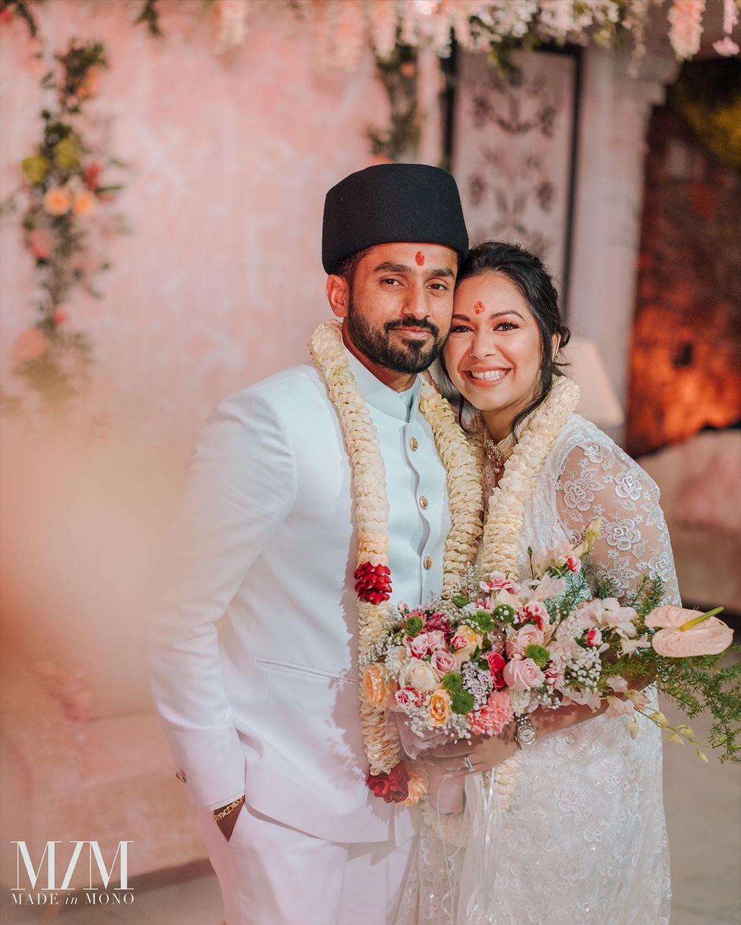 Karun Nair and Sanaya Tankariwala in Tradintional avatar