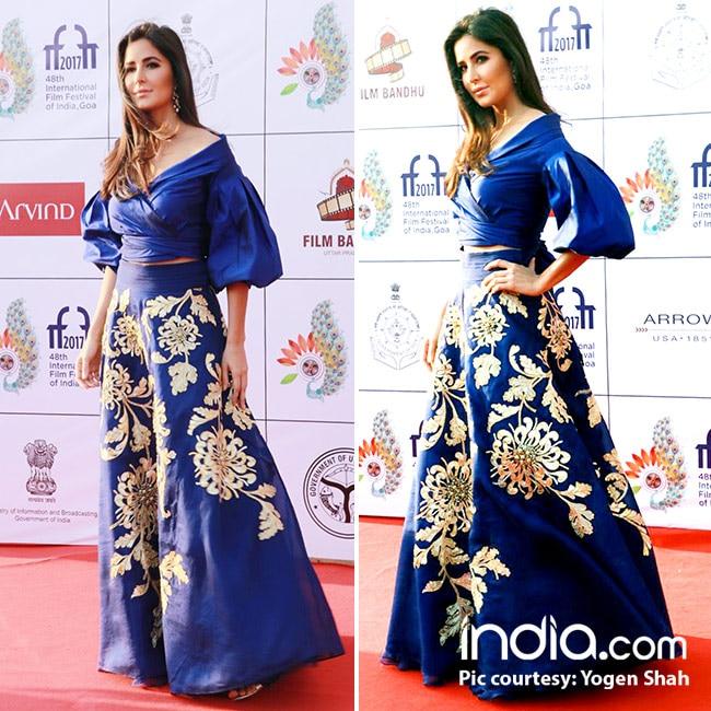 Katrina Kaif at red carpet of International Film Festival of India 2017 in Goa