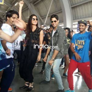 Katrina Kaif and Sidharth Malhotra groove on Kaala Chashma track at a metro station in Jaipur