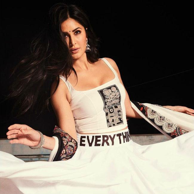 Katrina Kaif looks hot in her Lehenga T shirt look