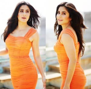 Katrina Kaif Brightens up The Day in Her Sexy Orange Ruched Dress From Dolce & Gabbana at Sooryavanshi Trailer Launch