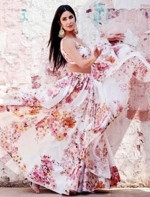 Katrina Kaif Stuns in a Sexy Sabyasachi Lehenga as She Begins Promotions of Sooryavanshi on a High Note