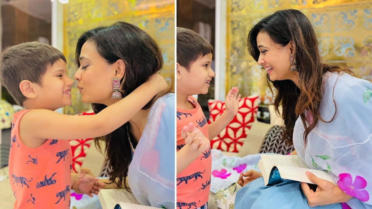 Katron Ke Khiladi 11 Fame Shweta Tiwari Have Some Downtime With Son Reyansh