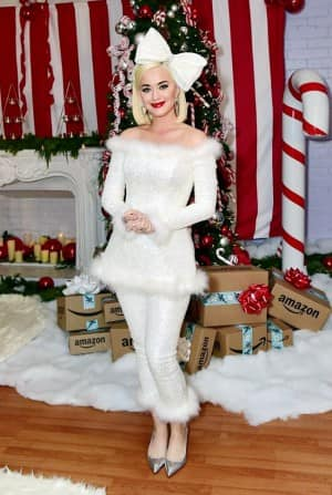 American Pop Star Katy Perry Delivers Smiles And Snow to Beautiful Kids Ahead Christmas Celebration