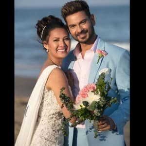 IN PICS: Bigg Boss couple Keith Sequeira and Rochelle Rao get hitched with dreamy beach wedding
