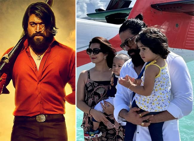 KGF 2 actor Yash shared adorable pictures with family