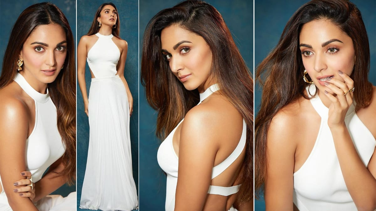 Kiara Advani is a Vision in Halterneck White Dress by Ralph Lauren