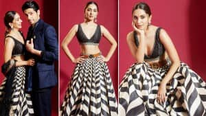 Kiara Advani Looks Blazing Hot In Deep Neckline Blouse And Monochrome Skirt, Sidharth Malhotra Suits Up For Shershaah Promotions