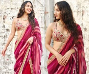 Kiara Advani Looks Like a 'Bomb' in Her Maroon Gharara Worth Rs 98K as She Begins Laxmmi Bomb Promotions