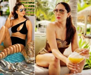 Kim Sharma Goes Bold in Black Bikini, Shares Sun-Kissed Picture on Instagram