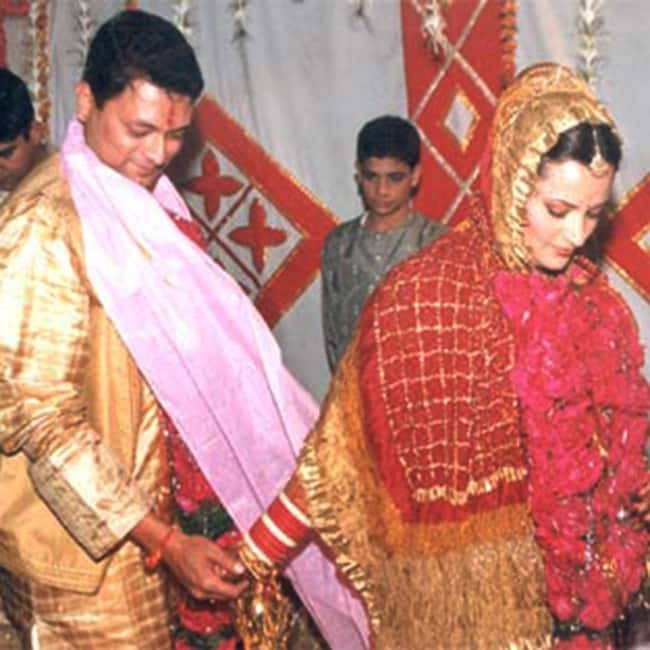 Kiran Karmarkar and Rinku Dhawan during their wedding
