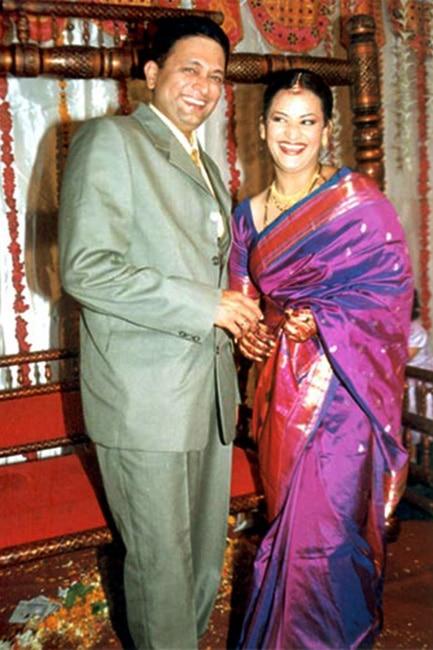 Kiran Karmarkar and Rinku Dhawan during their wedding reception