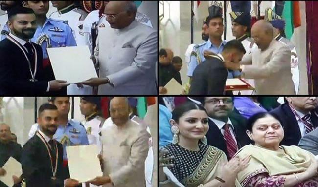 Kohli Receives Prestigious Khel Ratna Award From President Kovind