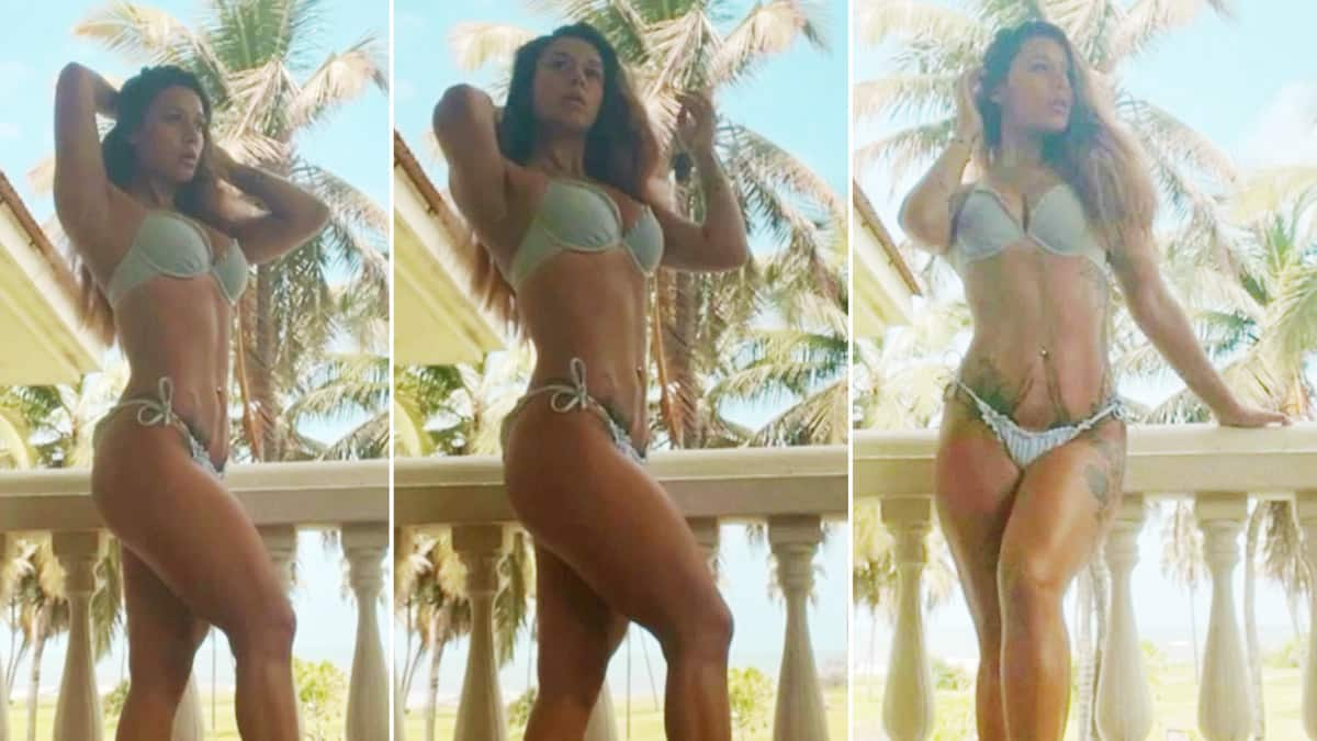 Krishna Shroff Flaunts Her Perfectly Toned Abs in Green Bikini