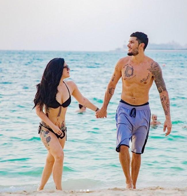 Krishna Shroff wears a black bikini  flaunts her innumerable tattoos