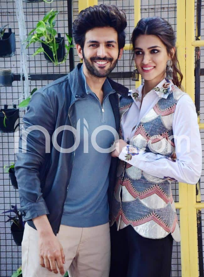 Kriti Looked Gorgeous in Her Floral Outfit  Kartik Rocked His Casual Look