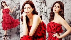 Kriti Sanon Oozes Oomph in This Gorgeous Red Polka Dots Ruffle Dress- See Hot Pics