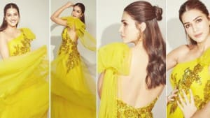 Kriti Sanon's Sexy Sartorial Choices Sets Internet on Fire, Looks Hot in Lime Yellow One Shoulder Gown | PICS