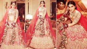 Kriti Sanon Looks Breathtaking in a Traditional Red Lehenga| View Photos