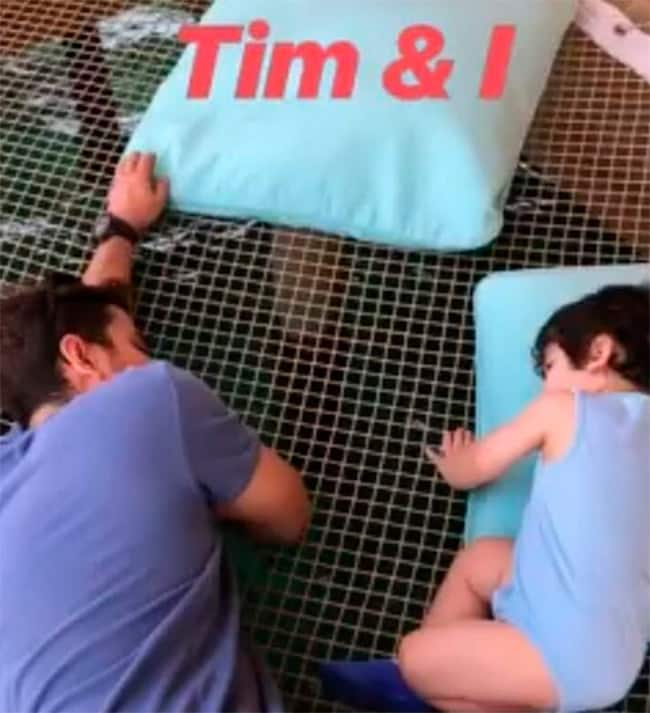 Kunal was chilling with Taimur