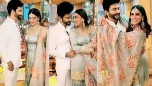 Shraddha Arya – Dheeraj Dhoopar Aka Preeta-Karan Romance on Set of Kundali Bhagya- See BTS Pics