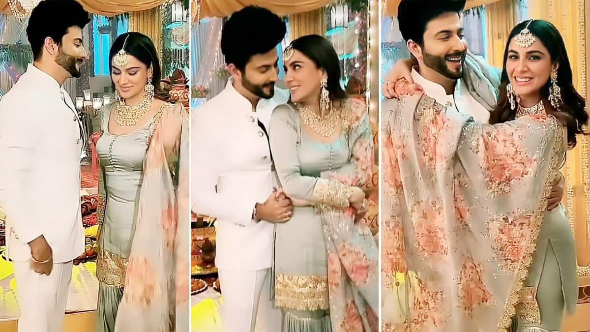 Kundali Bhagya   s Hot Couple Karan and Preeta   s romantic moments on set