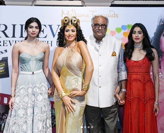 Late Sridevi   s wax statue unveiled today at Singapore   s Madame Tussauds