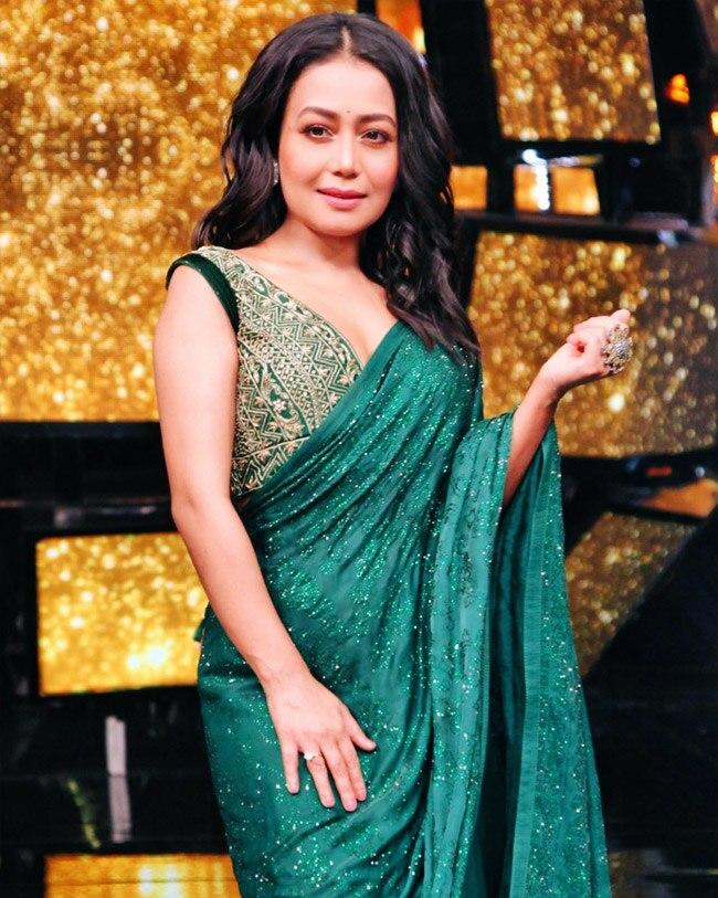 Neha Kakkar Looks Hot In A Traditional Avatar Neha Kakkar S Birthday Bollywood Singer S Sarees Will Revamp Your Wardrobe Right Away Celebs Photo Gallery India Com Photogallery