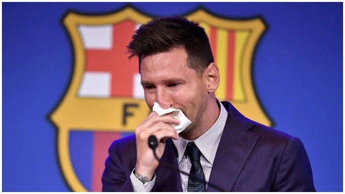 Lionel Messi in Tears